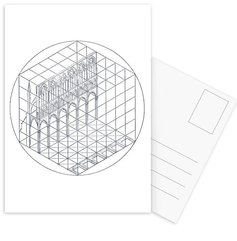 Zwart en wit, Architectonische details, Venetië, Facade ansichtkaartenset