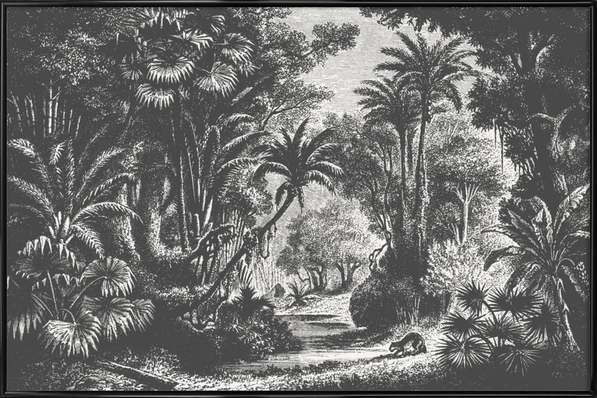 Indian Jungle -Bild mit Kunststoffrahmen