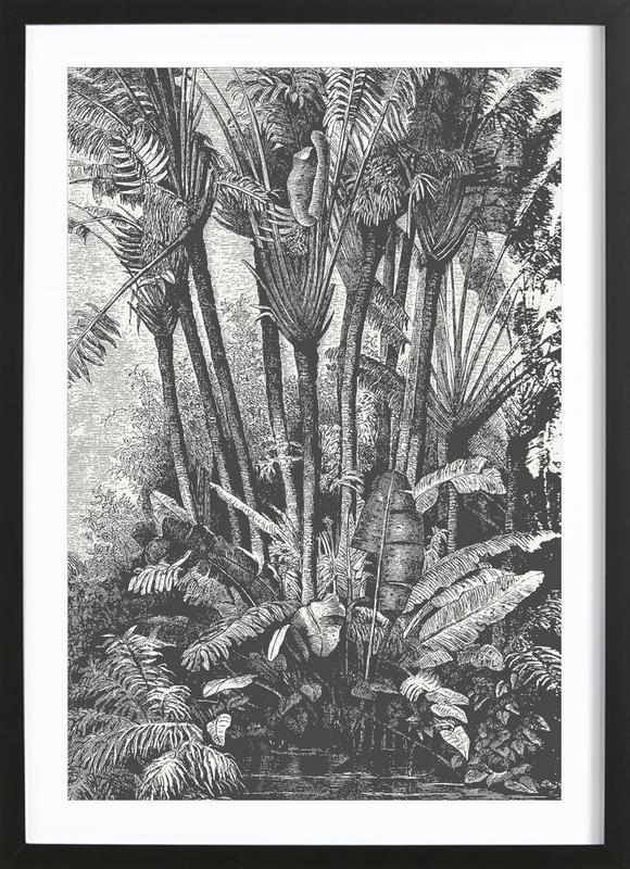 Palms in Water ingelijste print