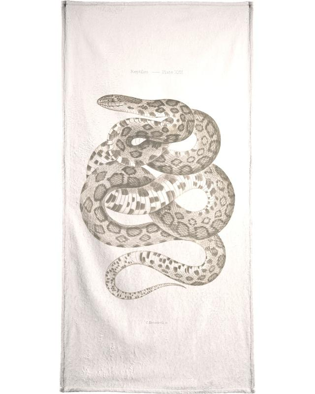 Reptiles - Plate XXII Bath Towel