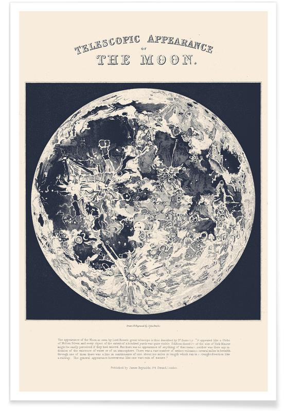 Telescopic Appearance Of The Moon poster