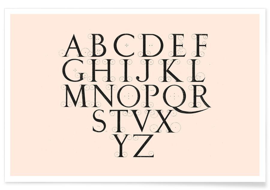 , Alphabet Capitals Poster