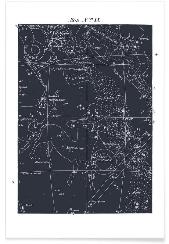 , Sagittarius Blue -Poster