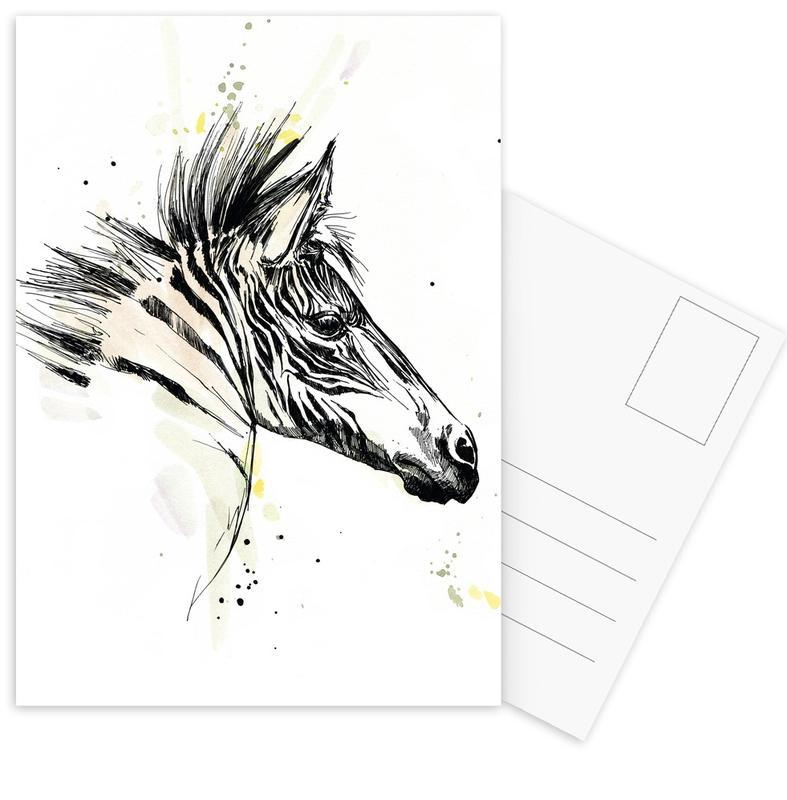 Zebras, Zaba -Postkartenset