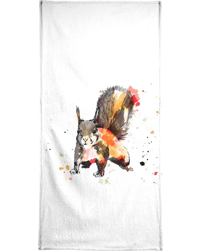 Kinderzimmer & Kunst für Kinder, Eichhörnchen, Ed -Handtuch