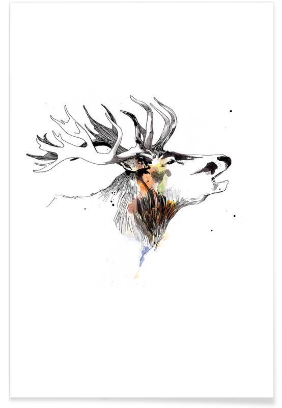 Deer, Nursery & Art for Kids, Hanjo Poster