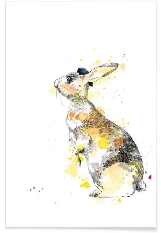 Kinderzimmer & Kunst für Kinder, Kaninchen, Häschen -Poster