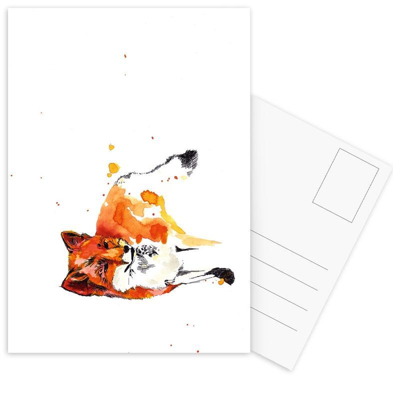 Katzen, Kinderzimmer & Kunst für Kinder, Luzius Famal -Postkartenset