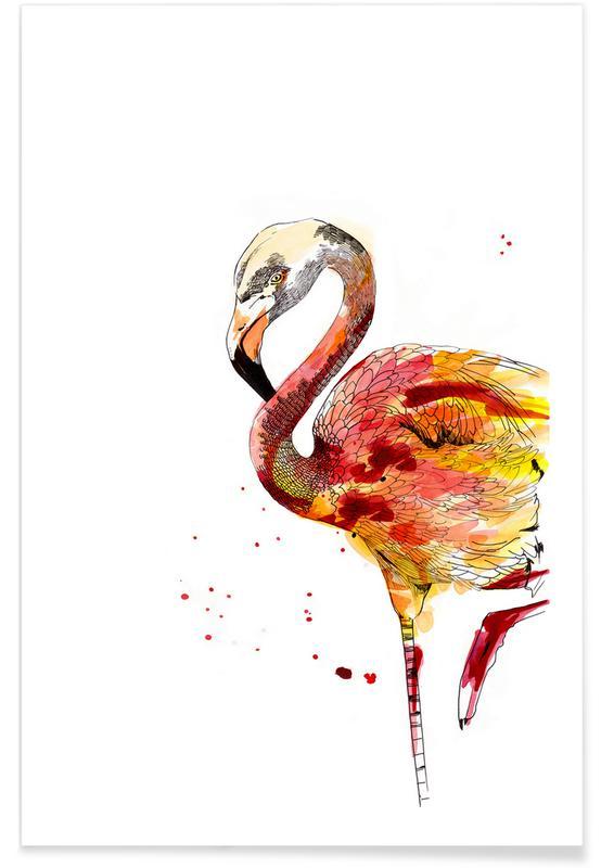 Renards, Art pour enfants, Marie Fleurette affiche