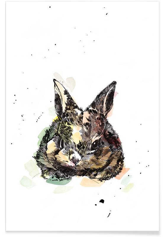 Kinderzimmer & Kunst für Kinder, Kaninchen, Hermine -Poster