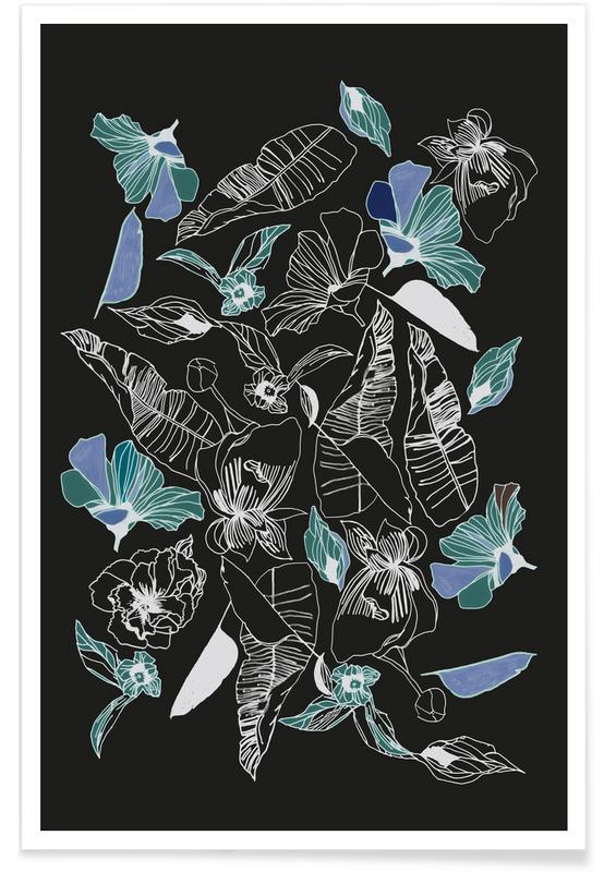 Bladeren en planten, Wildflowers 1 poster