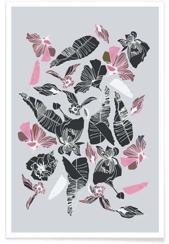Bladeren en planten, Wildflowers 3 poster