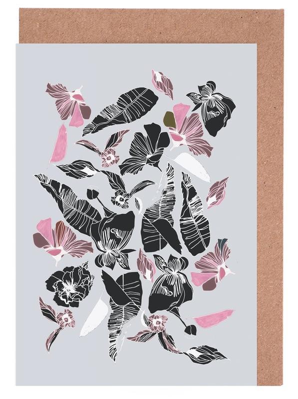 Blätter & Pflanzen, Wildflowers 3 -Grußkarten-Set