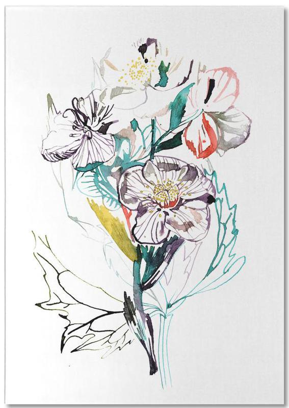 , Bouquet White -Notizblock