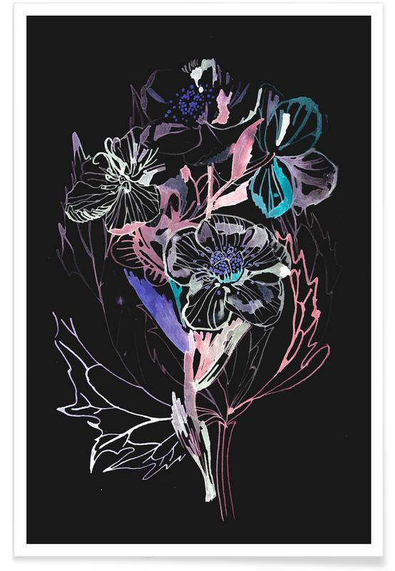, Bouquet Black poster