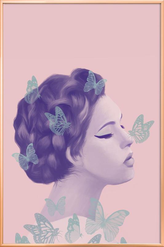 Butterflies poster in aluminium lijst