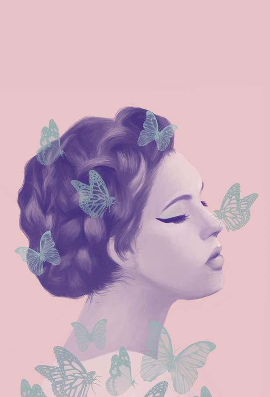 Butterflies Aluminium Print