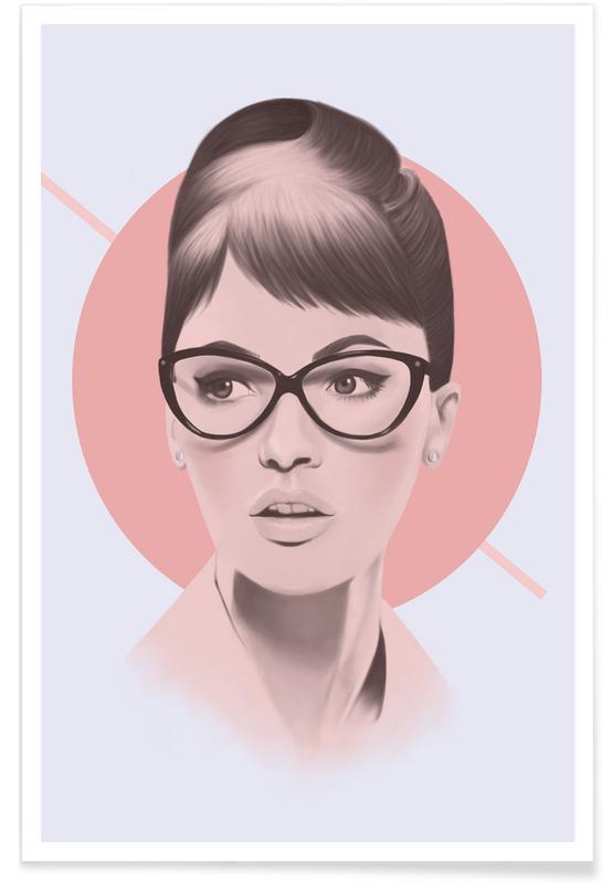 Vintage Glasses Poster