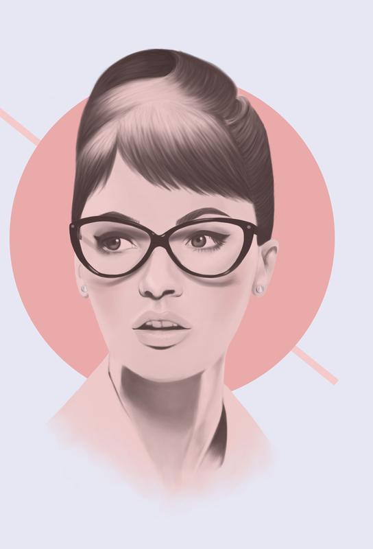 Vintage Glasses -Acrylglasbild