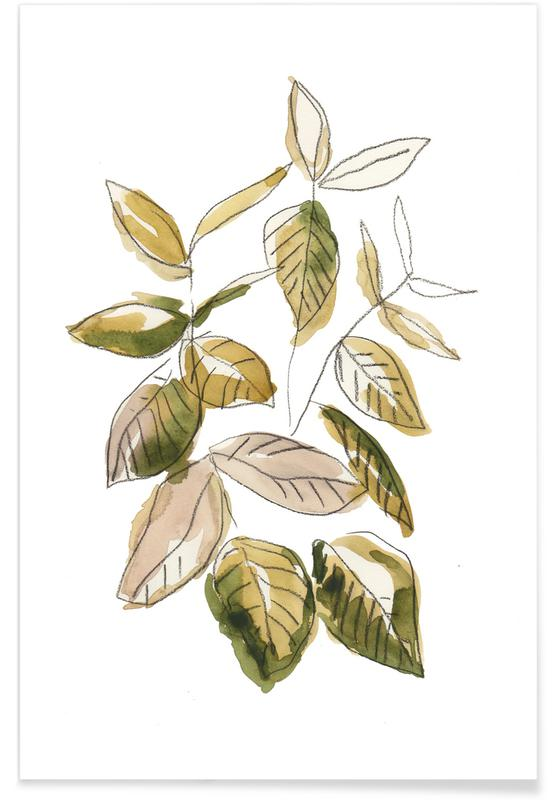 Bladeren en planten, Leaves 02 poster