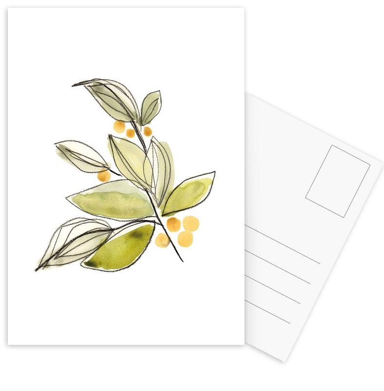 Leaves 03 Postcard Set