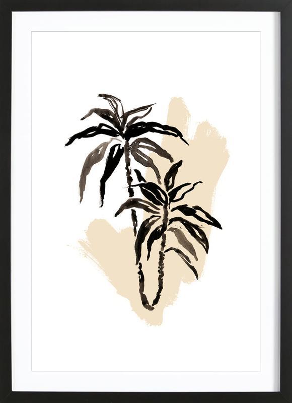 Plants & Colours 3 -Bild mit Holzrahmen