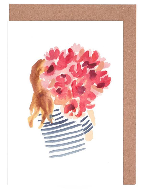 Flowergirl II Greeting Card Set