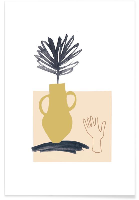 Bladeren en planten, Plants in Vases 02 poster