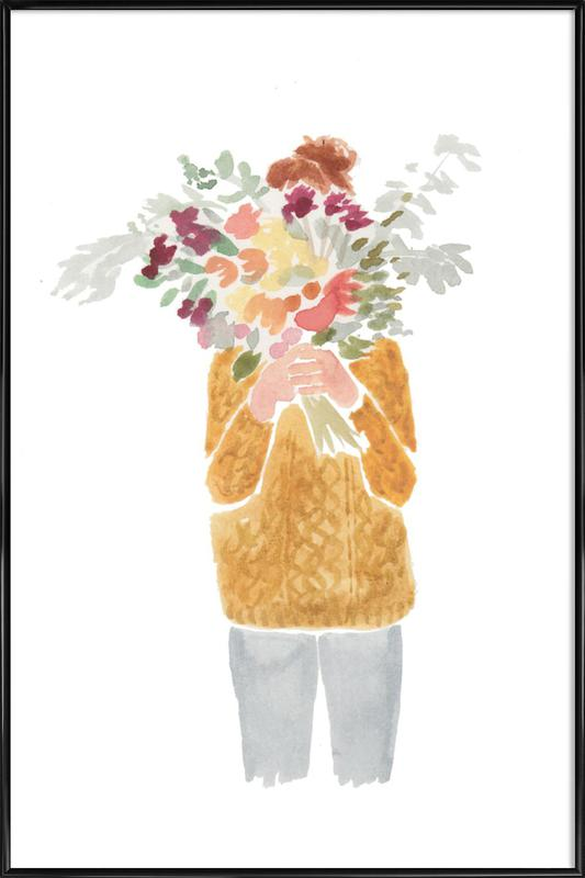 Flowergirl III -Bild mit Kunststoffrahmen