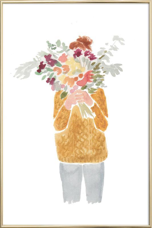 Flowergirl III -Poster im Alurahmen