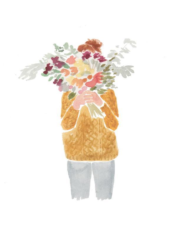 Flowergirl III canvas doek