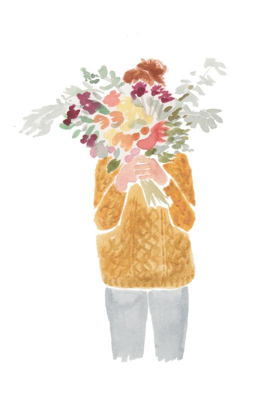Flowergirl III acrylglas print