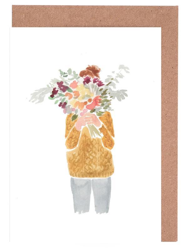 Flowergirl III Greeting Card Set