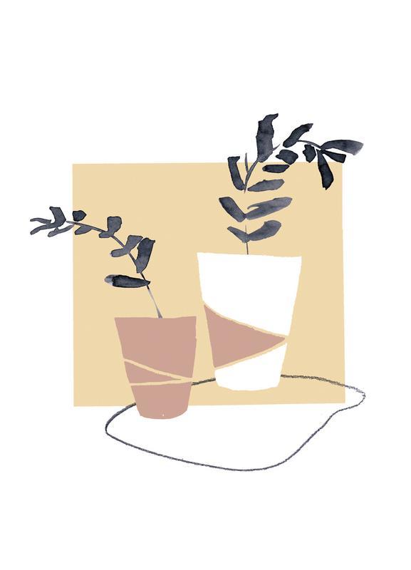 Plants in Vases 04 toile