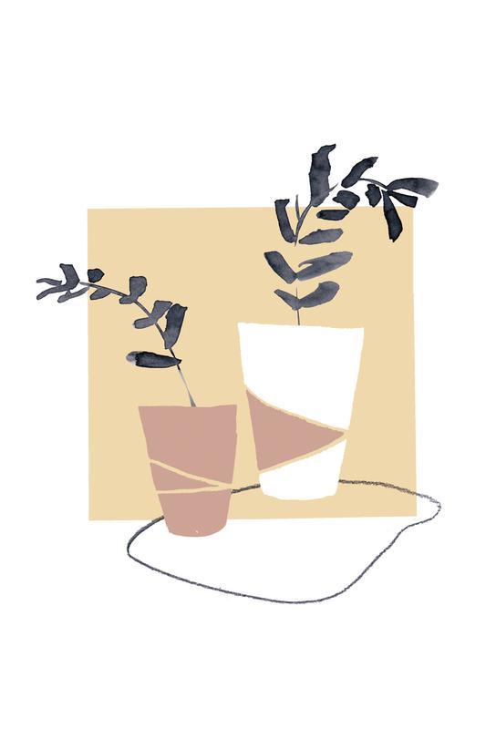 Plants in Vases 04 -Acrylglasbild