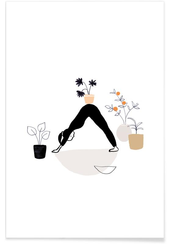 Yoga With Plants 01 Poster