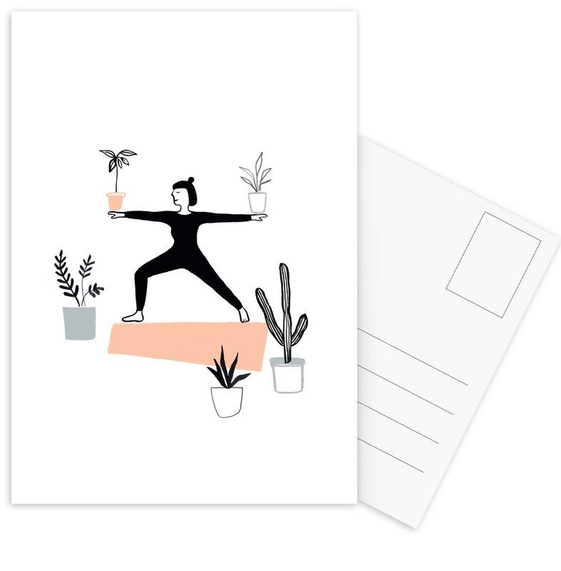 Yoga With Plants 02 Postcard Set