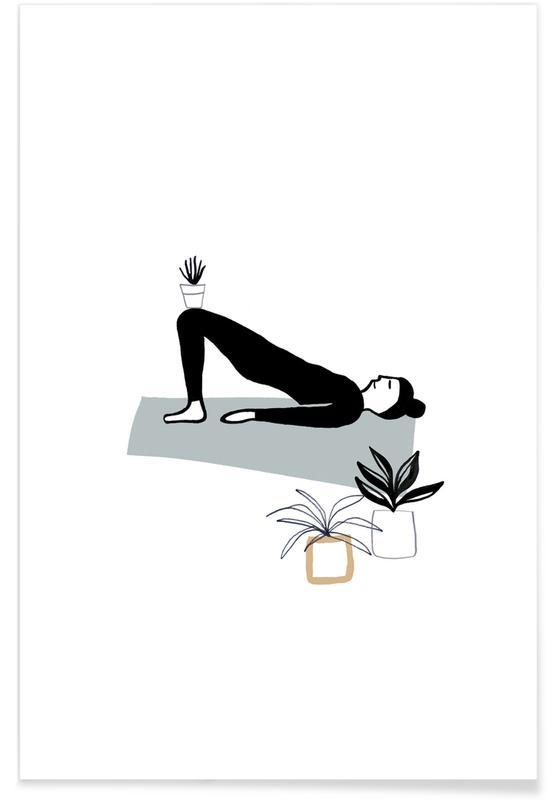 Yoga, Yoga With Plants 03 affiche