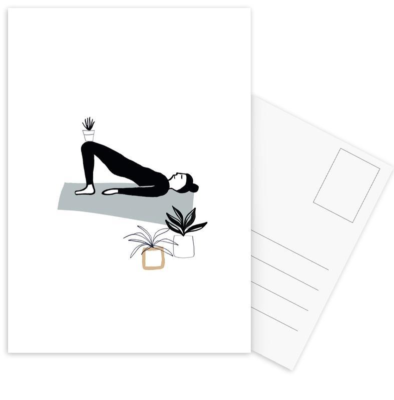 Yoga, Yoga With Plants 03 cartes postales