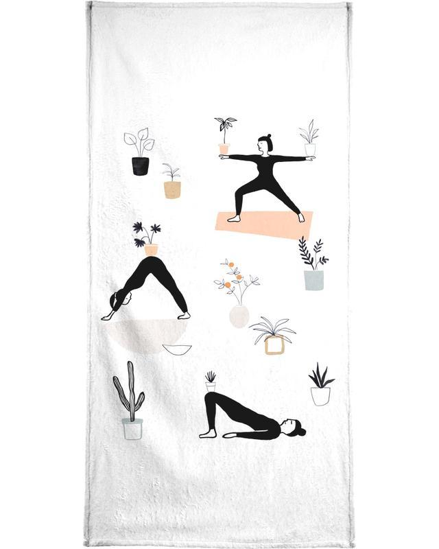 Yoga With Plants 04 Bath Towel