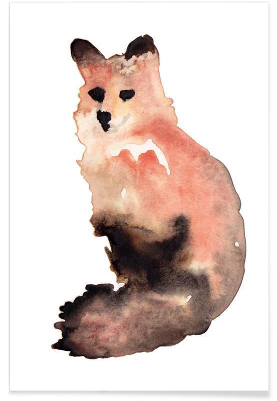 Foxes, Nursery & Art for Kids, Fox Poster