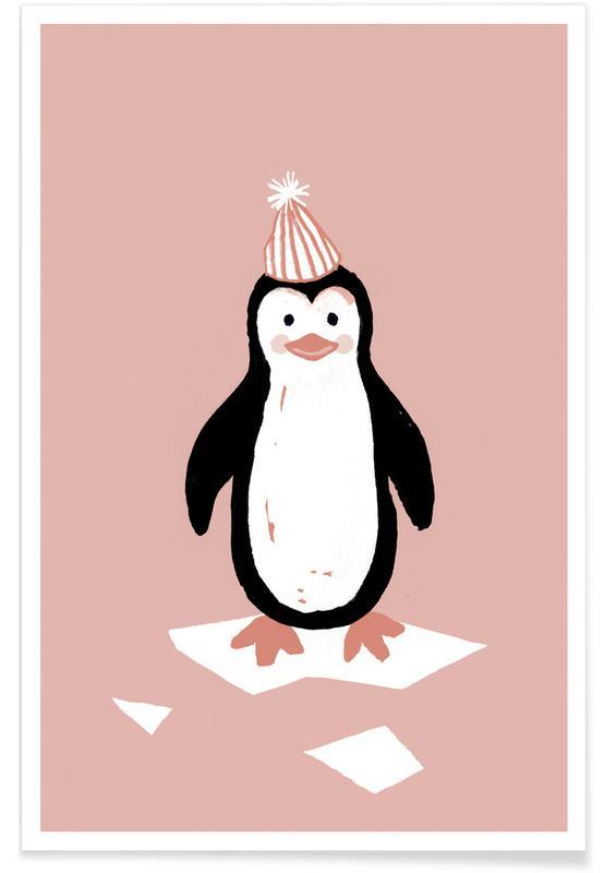 Art pour enfants, Noël, Pingouins, This Winter 08 affiche