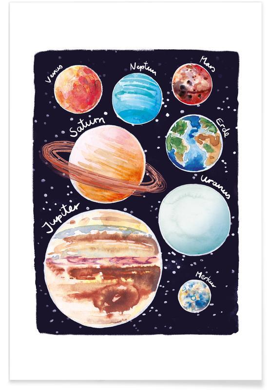 Kunst voor kinderen, Sonnensystem poster