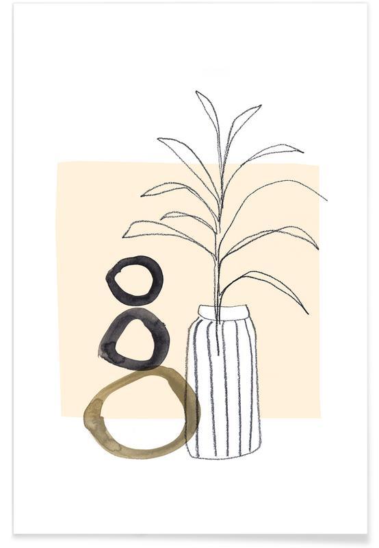 Blätter & Pflanzen, Plants and Vases 10 -Poster