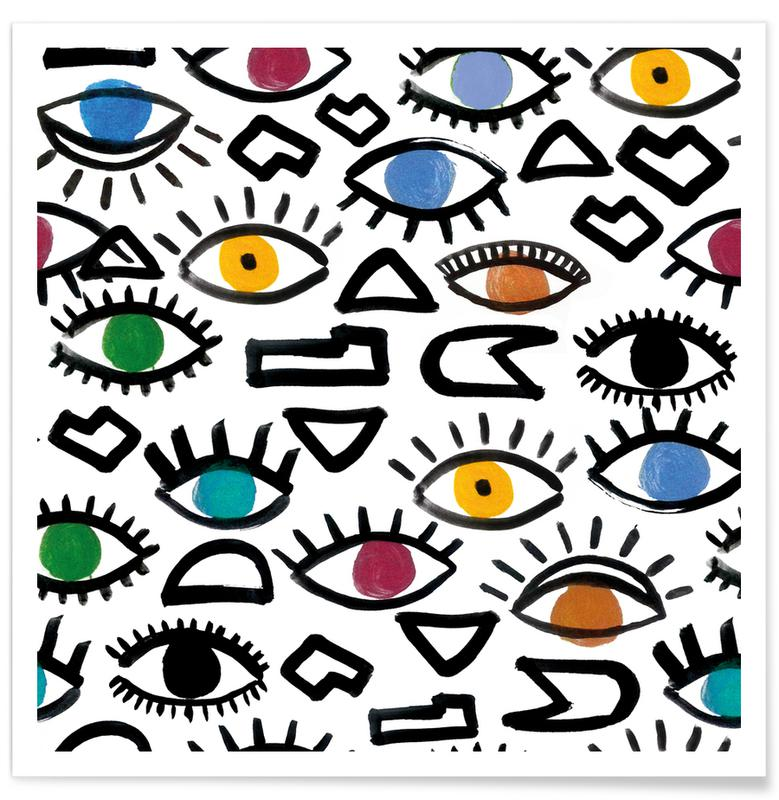 Geometric Eyes poster