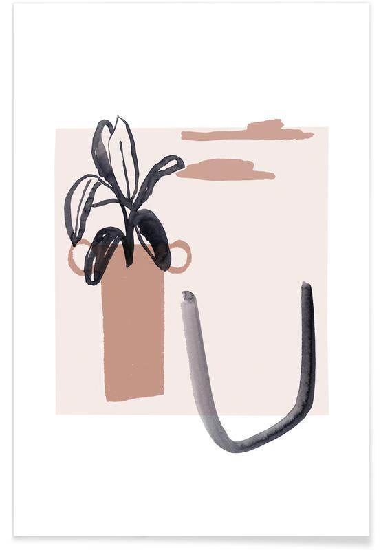 Feuilles & Plantes, Plants and Vases 17 affiche