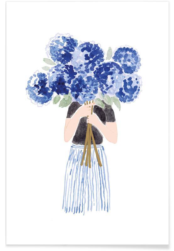 Porträts, Flowergirl 8 -Poster