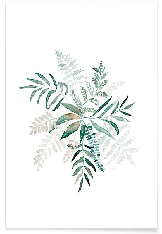 Blätter & Pflanzen, Farn -Poster