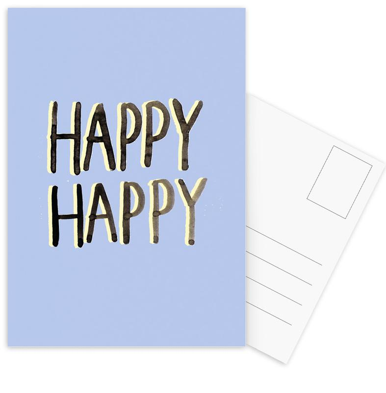 Happy Happy -Postkartenset