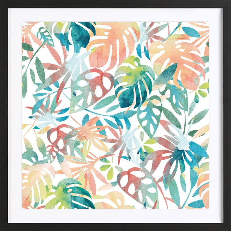 Jungle Leaves Light Framed Print